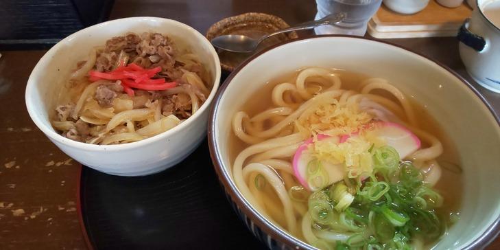 國安うどん ミニ牛丼セット